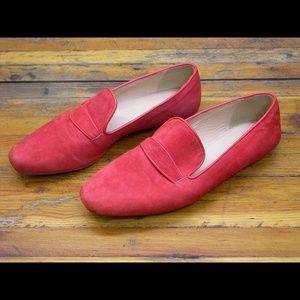 J. Crew Orange Suede Loafers - Size 7.5